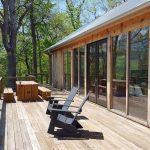 Drevená chata terasa