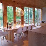 Drevená chata jedáleň
