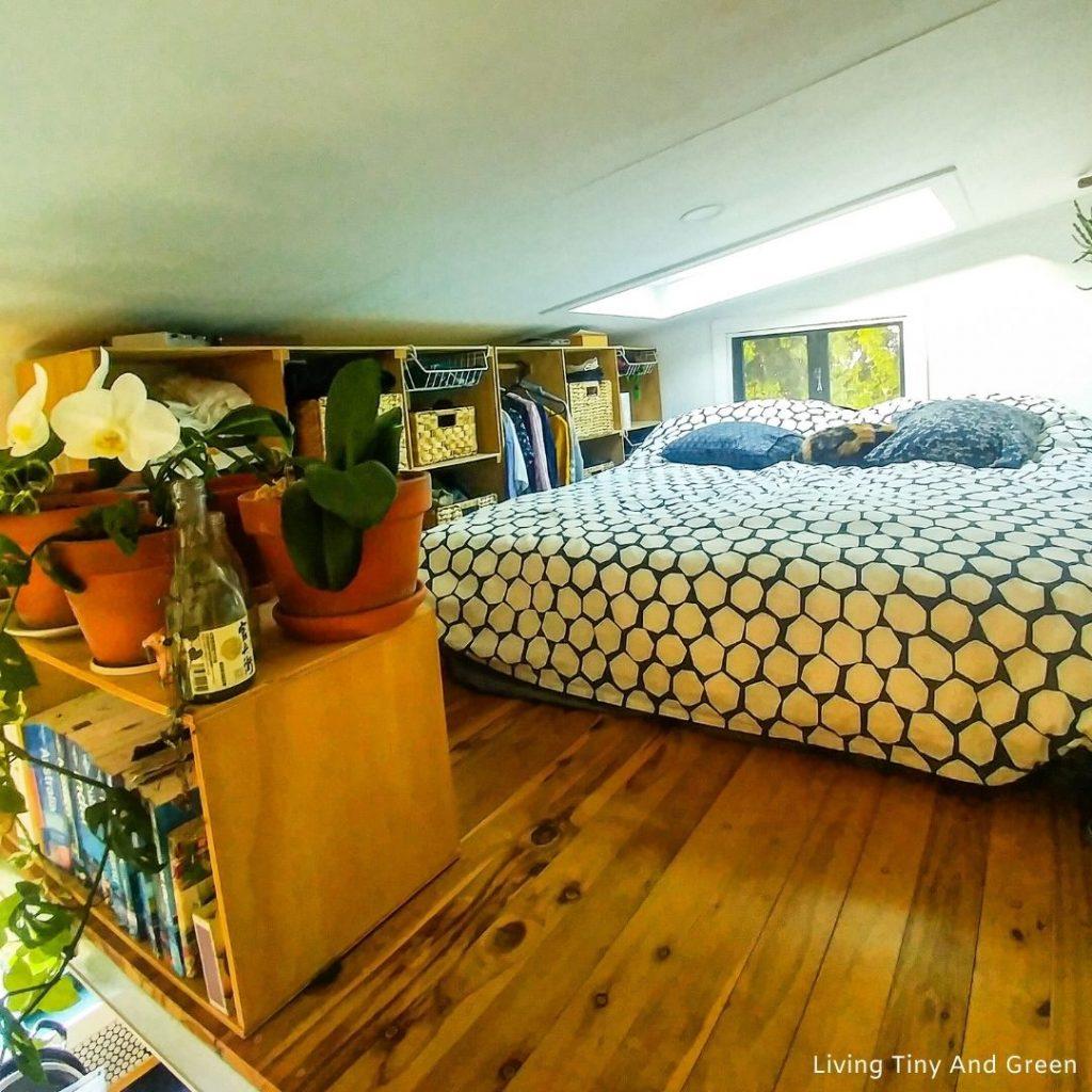 Spálňa v ekodomčeku
