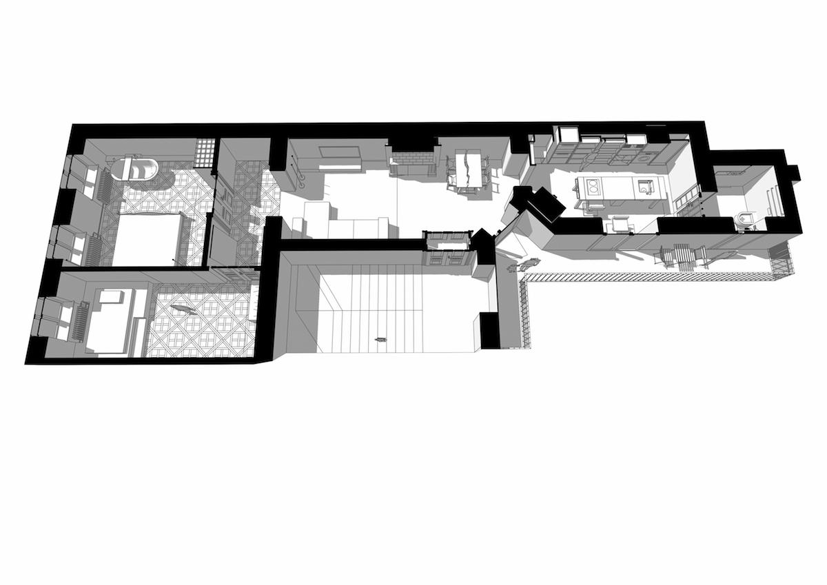 Plán apartmán Guculska