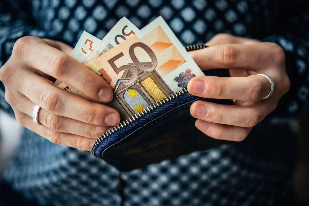 50 eur v peňaženke