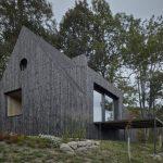 Čierne obloženie a terasa