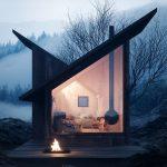 Horská chata výhľad z obývačky