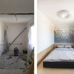 Spálňa pred a po