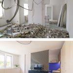 Obývačka pred a po