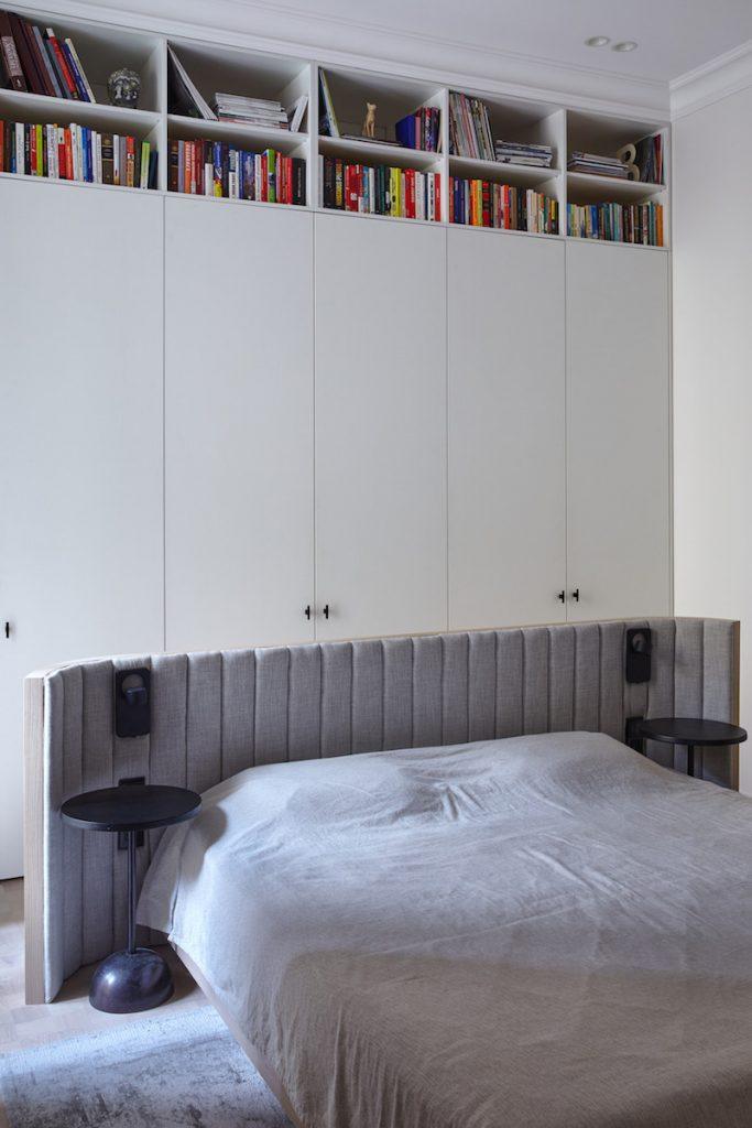 Vstavané skrine a posteľ