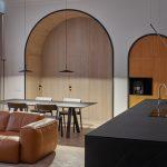 Výklenky v kuchyni a obývačke