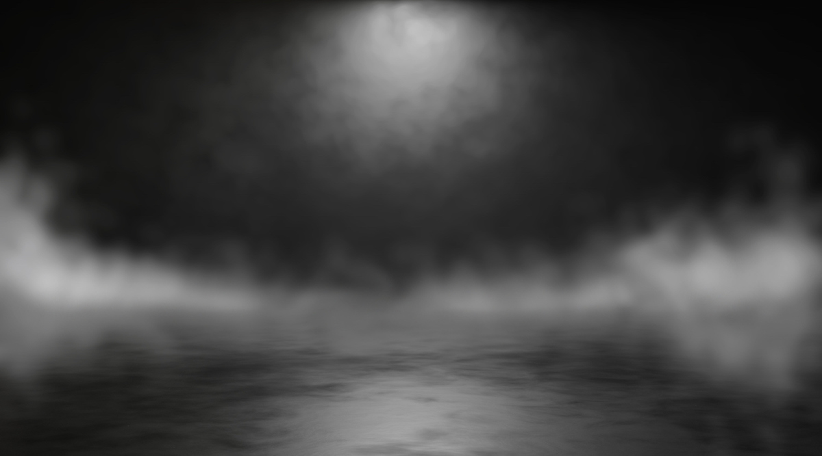 Abstract blurry background with smoke. 3d render