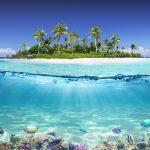 Tropický ostrov a korálové útesy