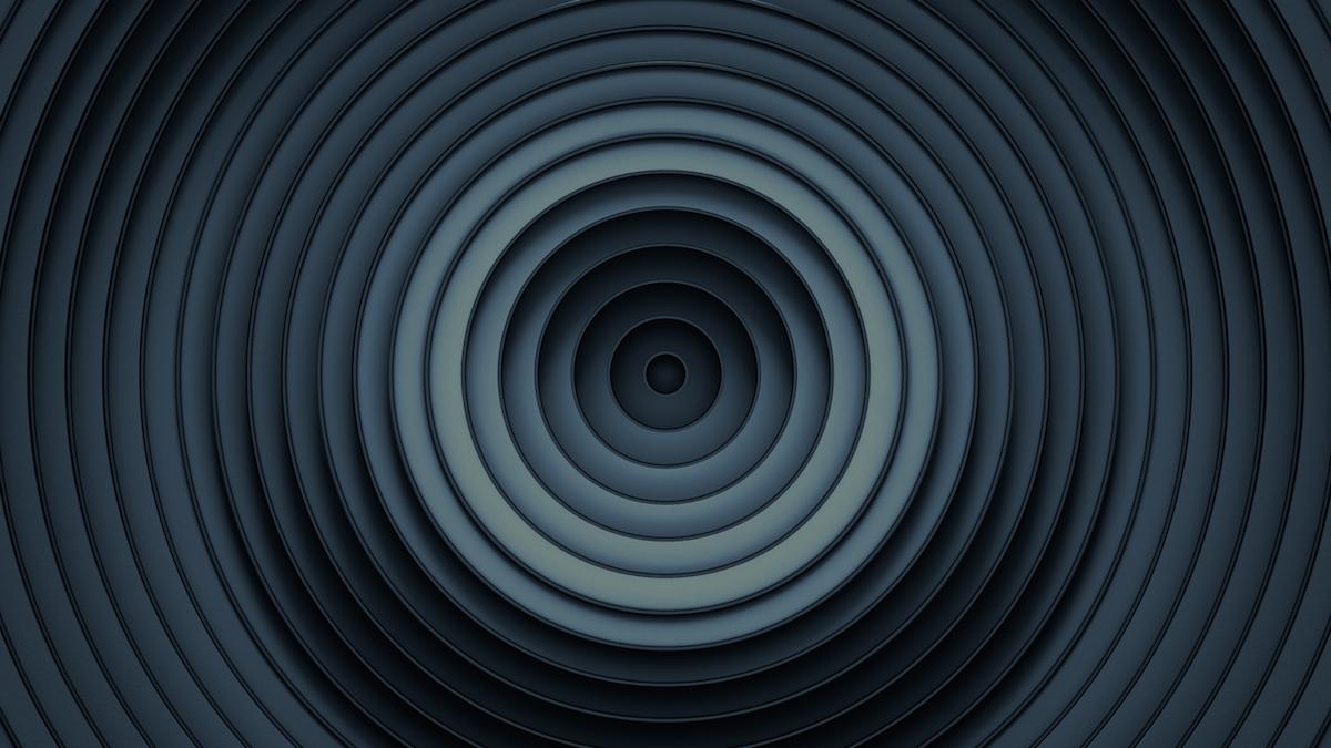 Dark rings 3D render illustration