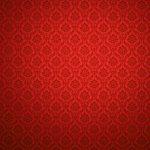 Červená damašková tapeta