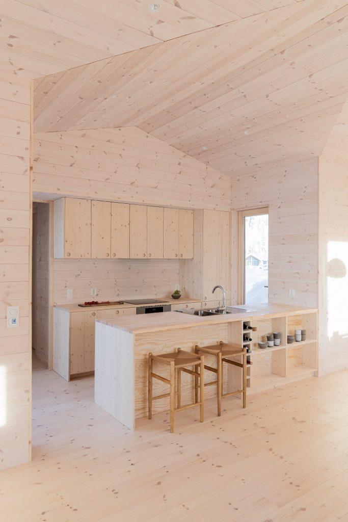 drevená kuchyňa v chate