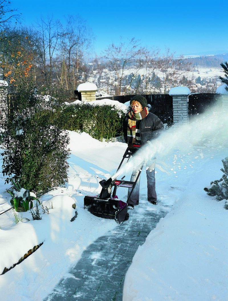 Elektrická snehová fréza