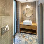 Toaleta s mozaikou