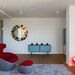 Dizajnový stolík a zrkadlo