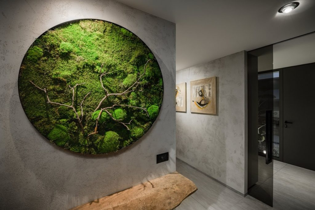 Zelená dekorácia