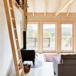 Obytný priestor s otvoreným krovom