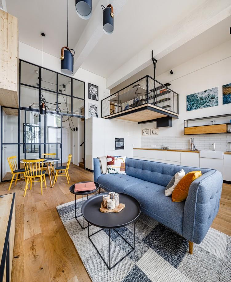 loftový byt v bývalej továrni Meopta