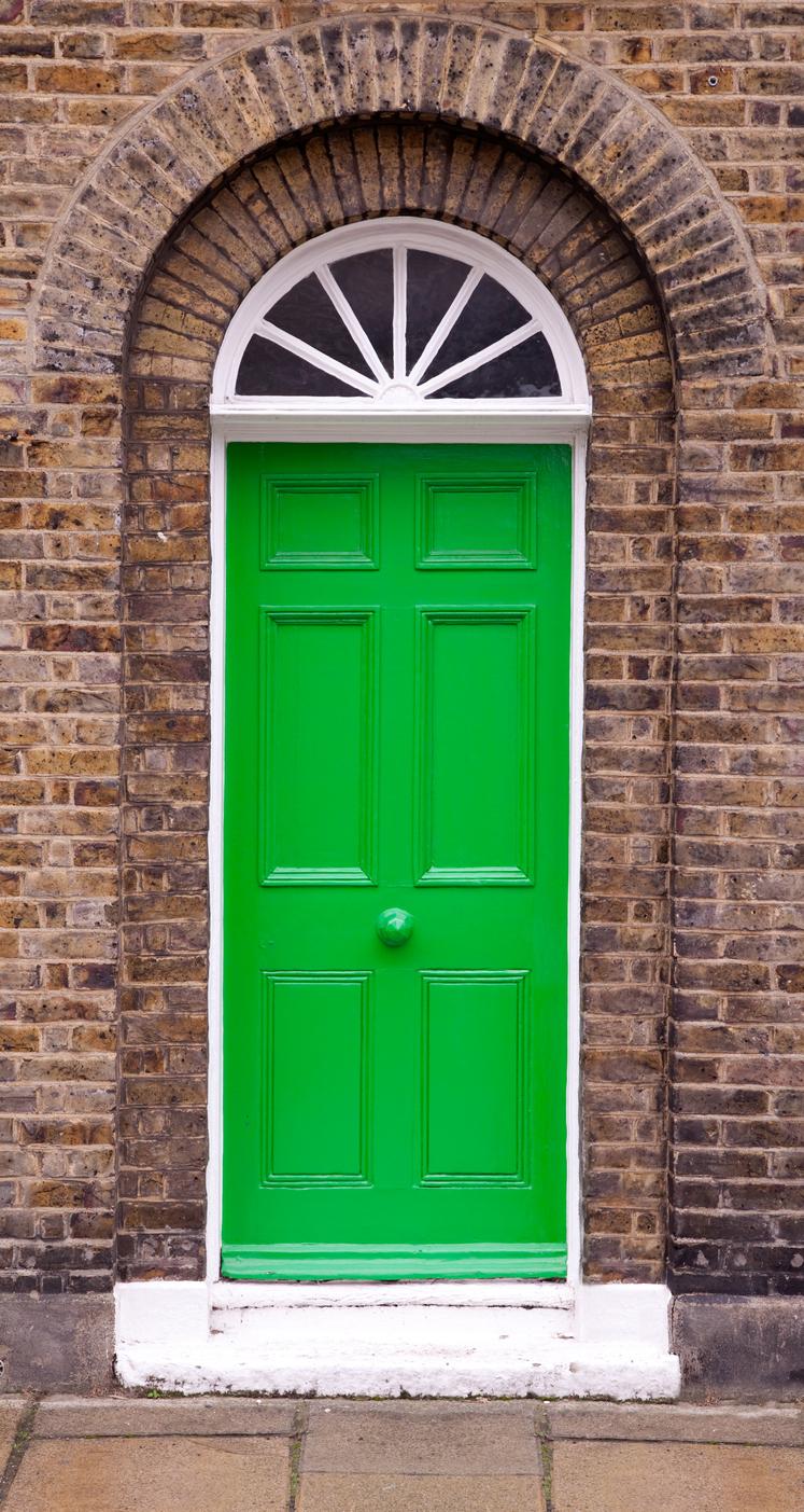 Zelené vchodové dvere