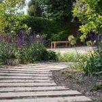 Záhrada s chodníkom