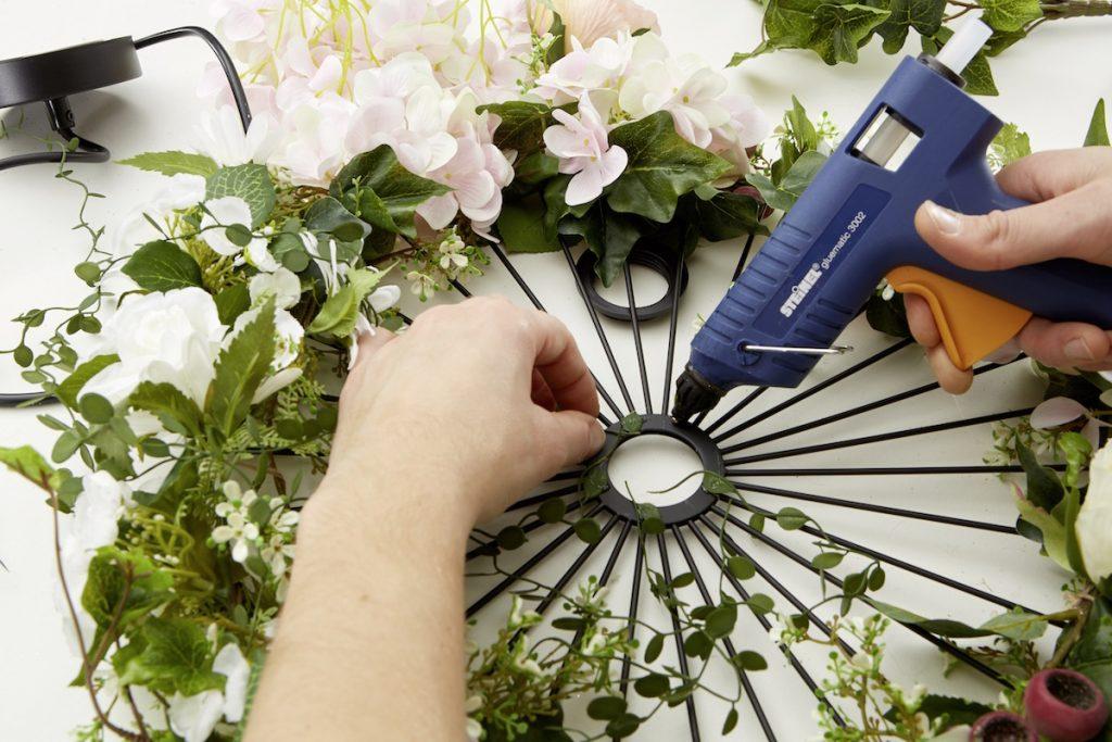 Výroba kvetinovej lampy