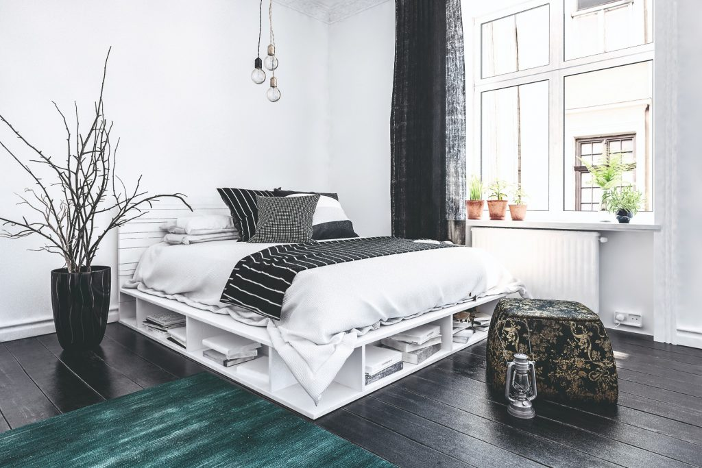 Úložné priestory v spálni