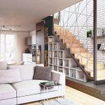 Obývačka so schodami