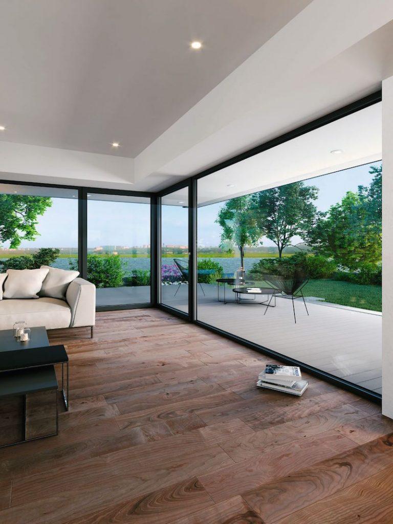 Veľké okenné plochy v dome