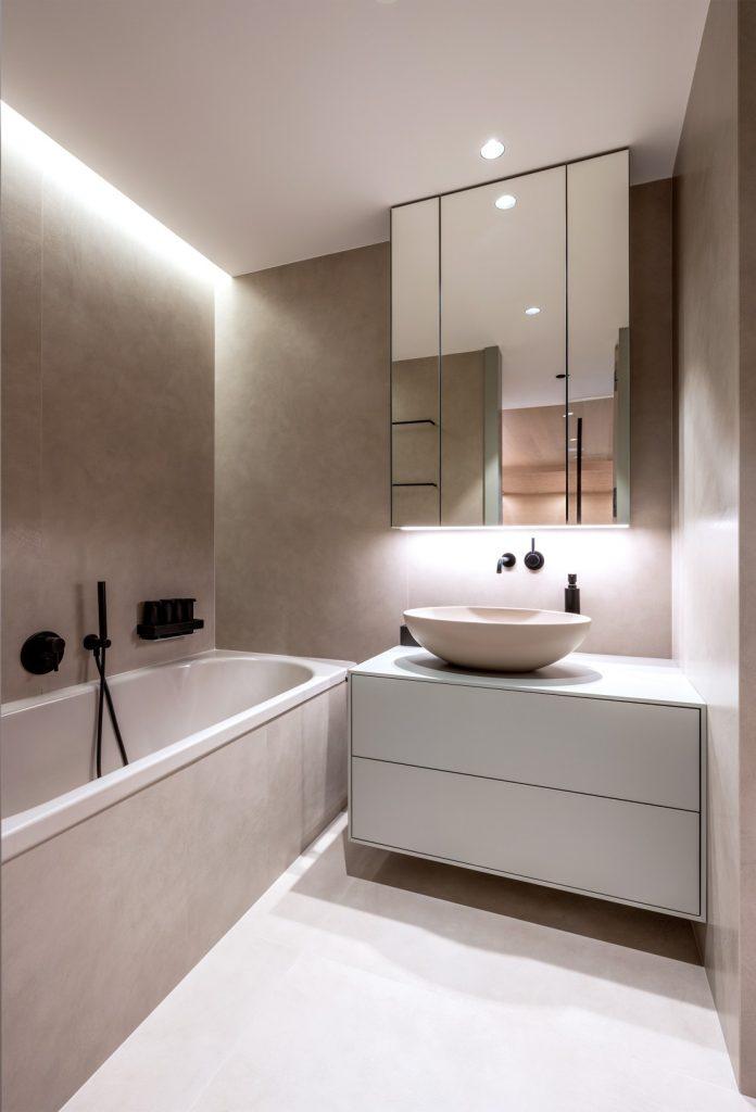 Kúpeľňa v jednej farbe