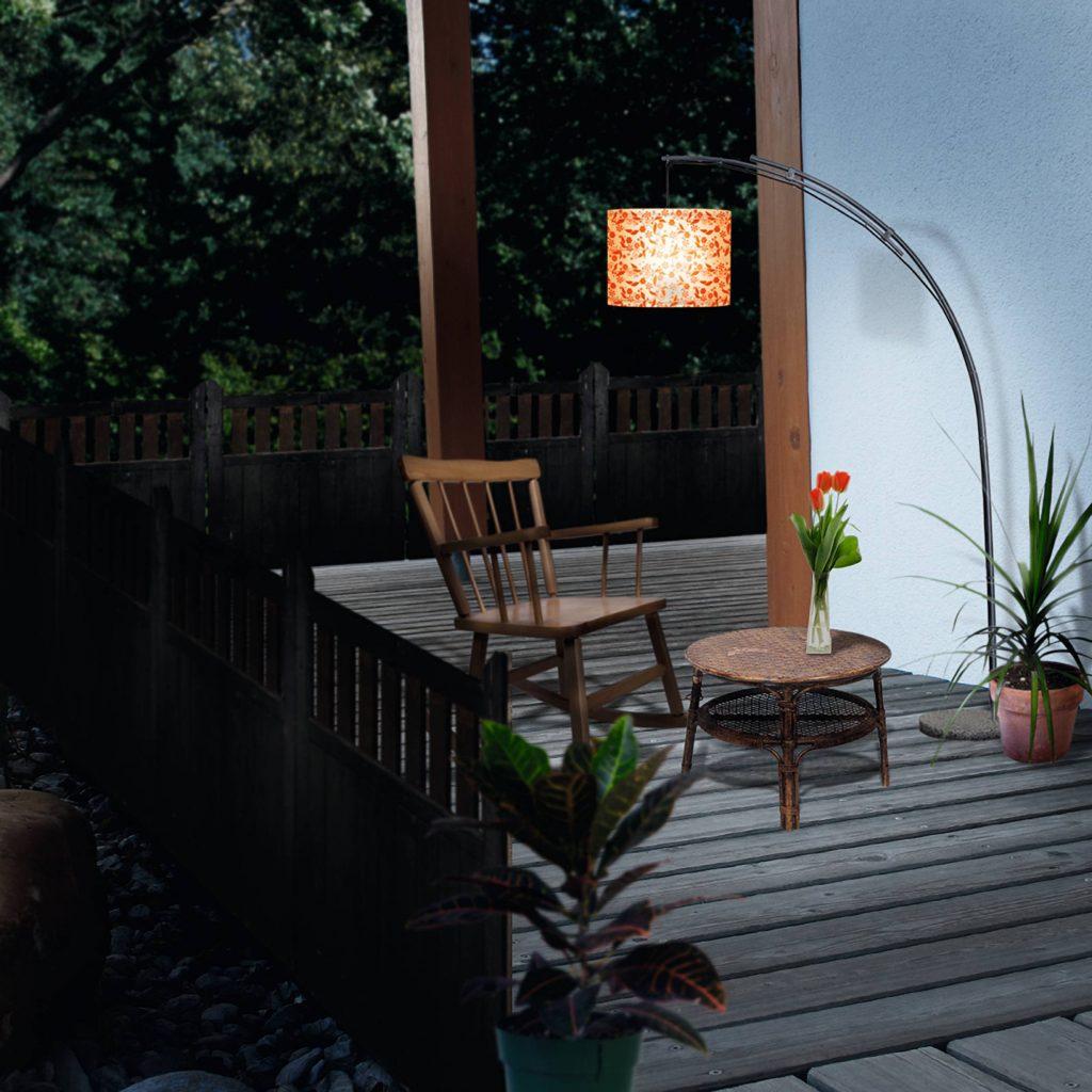 Záhradné svietidlá na terase