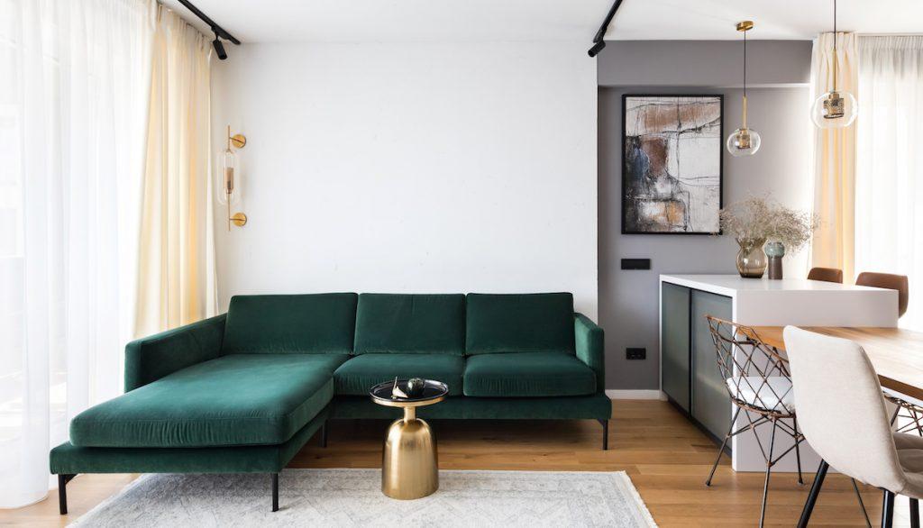 Štýlový byt, ktorého hlavným prvkom jedinečnosti sú čierne línie