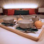 Podnos s riadom na posteli