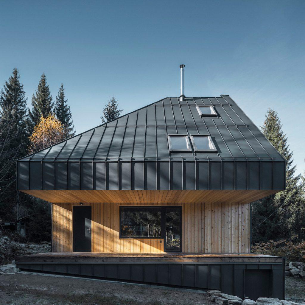 Krytá terasa na chate