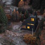Víkendový dom v lese