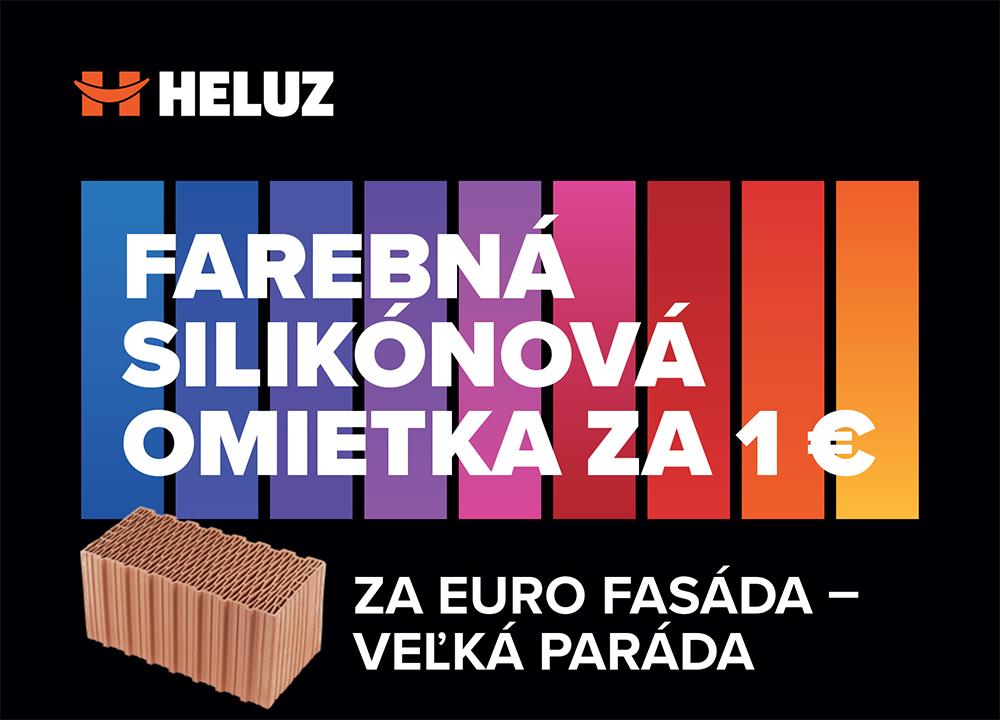 Na jar bude farebná omietka stáť len 1 €. Začína sa nová akcia HELUZ