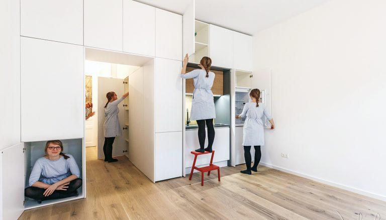 Garsónka s rozlohou len 30 metrov štvorcových ponúka plnohodnotné bývanie. Ako je to možné?