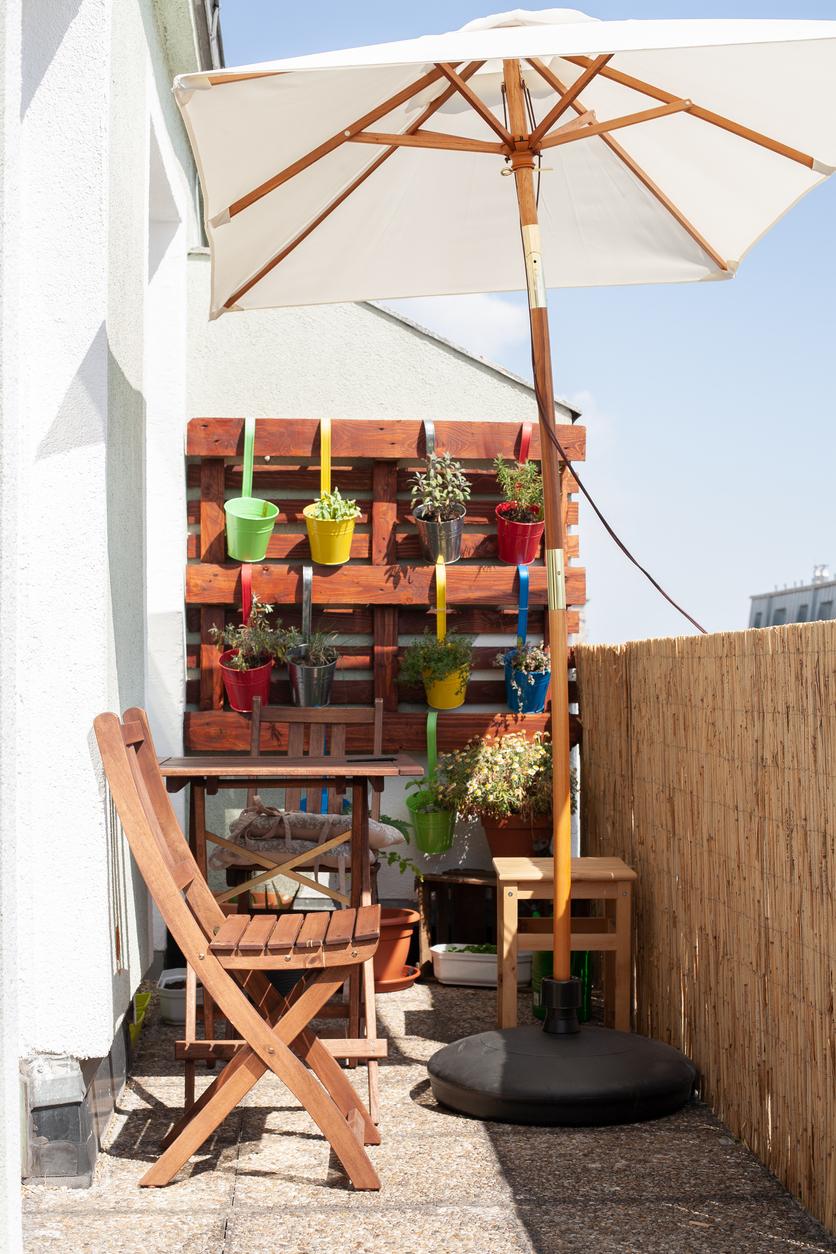 Malá záhradka na balkóne