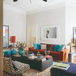 Obývačka s dizajnovým nábytkom