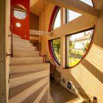 Nízkoenergetická drevostavba schodisko
