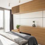 Spálňa s nábytkom z dyhy