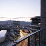 Výhľad z bytu v Troch vežiach