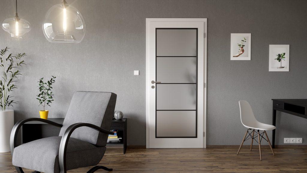 Trikrát lakované biele dvere Clara
