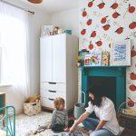 Detská izba s malbou na stene