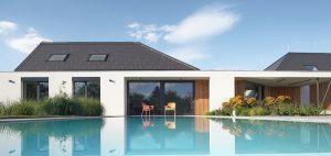 Citlivo zasadený dom v malej obci má takmer 500 metrov štvorcových a žiaden vypínač