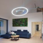 Moderné svietidlá v obývačke