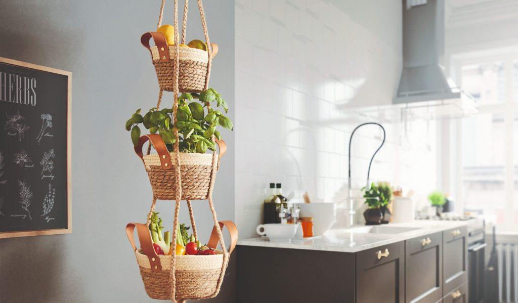 Závesný košík na ovocie a zeleninu