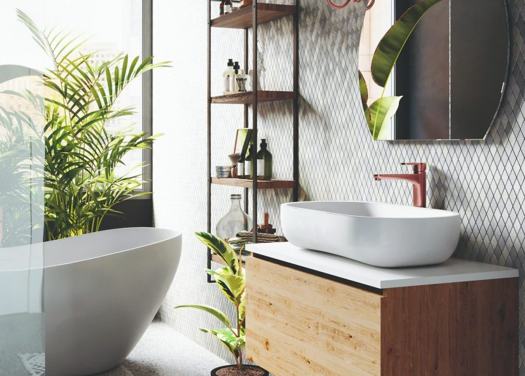 9 tipov, ako v kúpeľni kombinovať obklady a dlažby