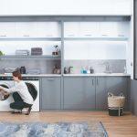 Práčka Haier v kuchyni