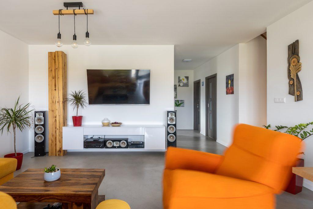 Obývačka v rodinnom dome