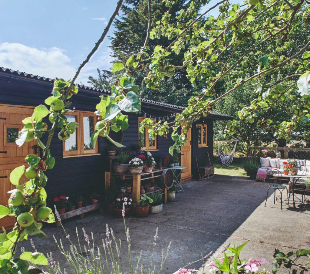 Hosťovský domček v záhrade